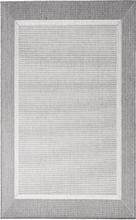 Flatvävd / slätvävd matta - Bodega - Ljusgrå - 160x220 cm