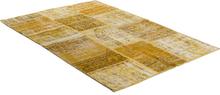 Handknuten Patchwork matta Persia - Gul - 140x200 cm