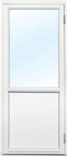 Fönsterdörr - 3-glas - Trä - U-värde: 1,1 Högerhängd Frostat glas Ingen spaltventil
