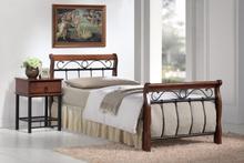 Säng Titusville 90x200 cm - Antik körsbär/svart