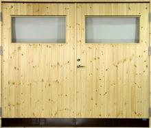 Garageport 10 °C - Med klarglas 17x19