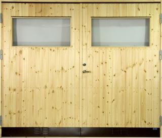 Garageport 10 °C - Med klarglas 17x21
