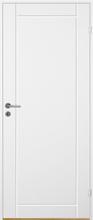 Innerdörr Bornholm - Kompakt dörrblad med linjefräst dekor A3 Vit (standard) (NCS S 0502-Y)