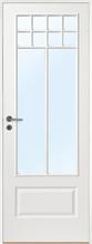 Innerdörr Gotland - Kompakt dörrblad med stort glasparti SP10S Vit (standard) (NCS S 0502-Y) Frostat glas