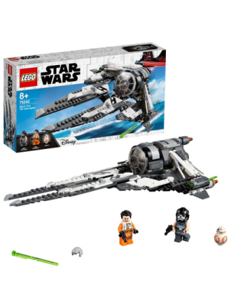 Star Wars 75242 TIE Interceptor med sortklædt pilot - Proshop