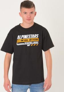 Alpinestars, BRAVO TEE, Sort, T-shirt/toppe till Dreng, M