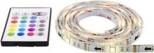 Gamingbelysning USB LED-list, 4x50cm, 12-färger, Fjärrkontroll