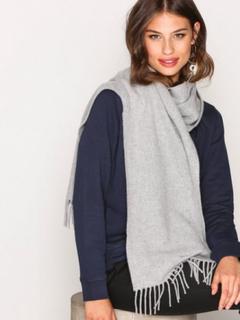 GANT Solid Lambswool Woven Scarf Halsdukar & Scarves Light Grey Melange