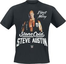 WWE - Steve Austin - Expect No Mercy -T-skjorte - svart