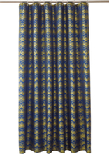 LIZA duschdraperi Guld/Blå