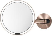 Simplehuman Sensorspegel Väggmonterad LED Med 5x Förstoring 230V-Roséguld