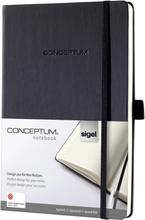 Sigel anteckningsbok Conceptum/CO121 A5 h svart 80 g