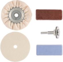 Työkalut Kiillotussarja Kiillotussarja (kiillotushuopa, kiillotuslaikka, kara, kiillotustahnat)
