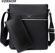 VORMOR Famous Brand Casual Men Bag Business Leather Men Messenger Bags Vintage Shoulder Crossbody Bag For Male DropShipping