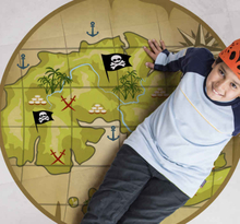 Vinyl vloerbedekking Meer Kinderen Piraten schatkaart