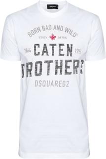 Dsquared2 DSQUARED2 vit Caten Brothers T-Shirt