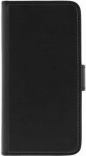 Konstläder fodral med tillhörande magnetskal iPhone X 3 kortfack svart