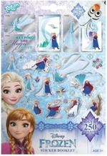 Disney Frost Frozen Stickers Booklet 250st Klistermärken Metallic Look