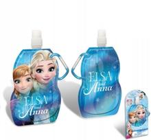 Disney Frozen Vikbar Vattenflaska Med Karbinhake 500ml BLÅ