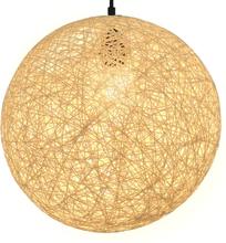 vidaXL Roikkuva lamppu kerma pallo 35 cm E27
