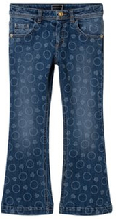 Young Versace Bolli All Over Print Denim Flare Jeans 5 years