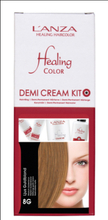 Lanza Healing Color Demi Cream Kit Ljus Guldblond 8G