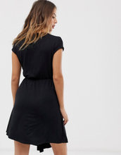 Brave Soul wrap front dress in black