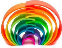 Regnbåge i silikon - neonfärger (12 bitar, Dëna)