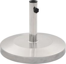 vidaXL Parasollfot silver rostfritt stål rund 25 kg