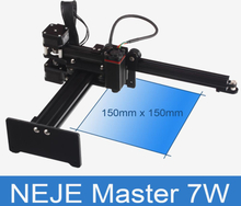 Original NEJE MASTER 7W Laser Engraving Machine 150mm*150mm Personal 3D Printer Kits Support Wood Metal Leather