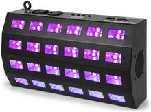 BUV463 LED UV Strob 24x3W DMX/Standalone 7 DMX-Kanaler 85W svart