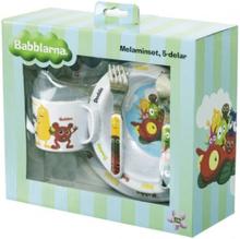 BABBLARNA Melaminset / Matservis - 5 delar