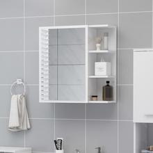 vidaXL badeværelsesskab spejl 62,5x20,5x64 cm spånplade hvid højglans