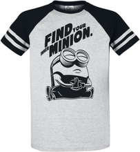 Minions - Find Your Inner Minion -T-skjorte - gråmelert, svart