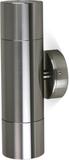 Väggspotlight 21cm dubbelriktad - Anodiserad alumi