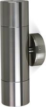 Väggspotlight 21cm dubbelriktad - Anodiserad aluminium