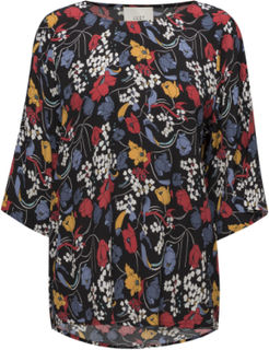 Ines Tee Blouses Short-sleeved Multi/mønstret Just Female