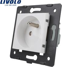 LIVOLO Manufacturer, Livolo White Plastic Materials, FR standard, Function Key For French Socket,VL-C7-C1FR-11 (4 Colors)