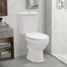 vidaXL Toalettstol med cistern och mjuk stängning keramik vit