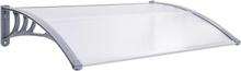 vidaXL dørudhæng 120 x 80 cm grå og transparent
