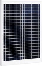 vidaXL Solpanel 20 W polykristallin aluminium och säkerhetsglas