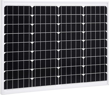 vidaXL Solpanel 50 W monokristallin aluminium och säkerhetsglas