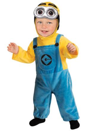 Kostume Minion Dave til babyer 86 cm (12-14 måneder) - Vegaoo.dk