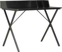 vidaXL Skrivbord svart 80x50x84 cm