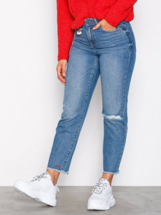 Noisy May Nmliv Nw Straight Ankle Jeans AZ01 Blå