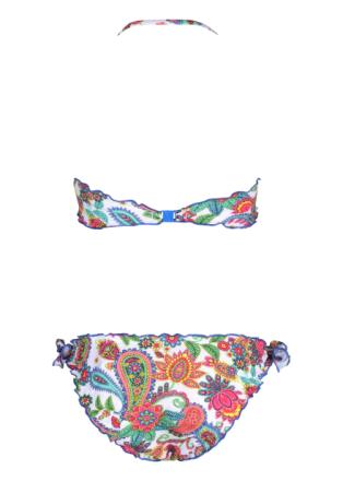 Mädchen-Bikini Biscotto mit Blumenmuster