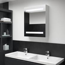 vidaXL Badrumsspegel med skåp LED 50x14x60 cm