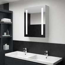 vidaXL Badrumsskåp med spegel LED 50x13x70 cm
