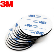 50pcs 30mm Round 3M 9448A Black Double Sided EVA Foam Tape Pad Mounting Tape Auto Car Decorative Article Wall Pendant Home Use