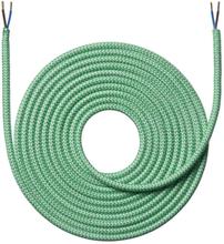 Nielsen stoffledning zigzag 2x0,75 mm², 4 meter, grønn